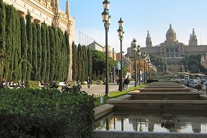 Barcelona hotels, picture of MontJuic near Placa Espanya