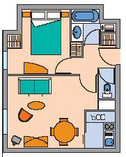 floor plan for an apartment in the citadines barcelona
